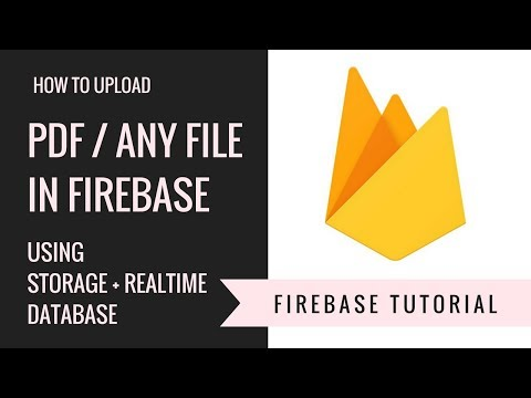 HOW TO UPLOAD PDF / ANY FILE TO FIREBASE | ANDROID | IN JAVA