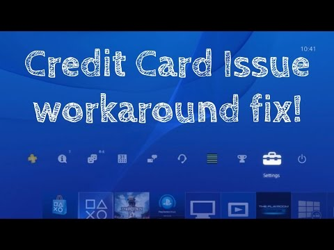 PS4 PSN Playstation+ Credit Card not working information invalid not valid accepted workaround fix