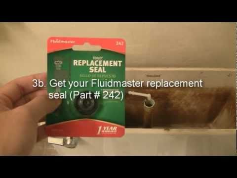 How to fix a toilet: replacing the Fluidmaster 400 fill valve seal (HD)