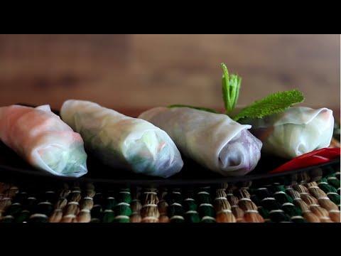 Rice paper rolls recipe video