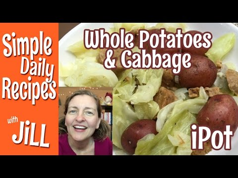 Whole Red Potatoes & Cabbage in the Instant Pot