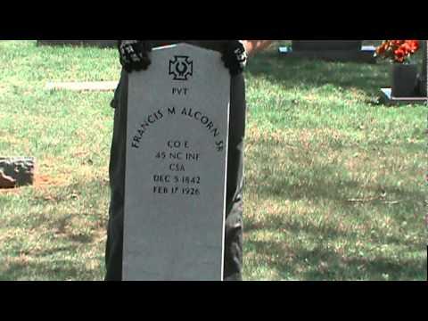 Francis Marion Alcorn Confederate Headstone (Part 2)