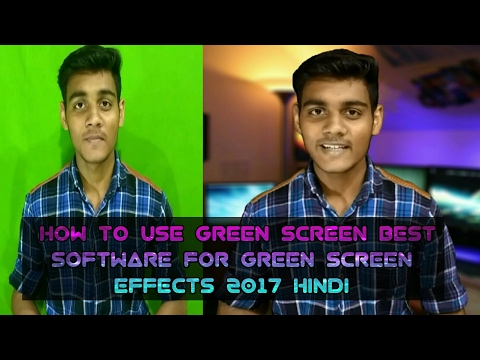 How to use green screen in hindi