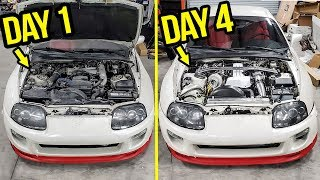 Rebuilding (And Heavily Modifying) A Stock 200,000 Mile Toyota Supra In 4 Days