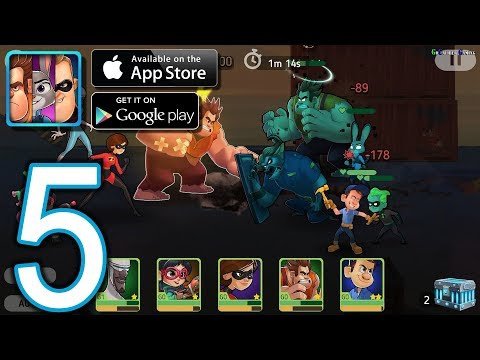 Disney Heroes Battle Mode Android iOS Walkthrough - Part 5 - CH1 Elite, The Port: The Docks, Arena