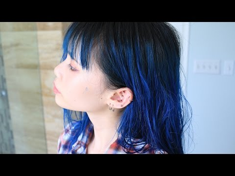 My New Hair Color! | Dyeing from Lavender to Deep Blue