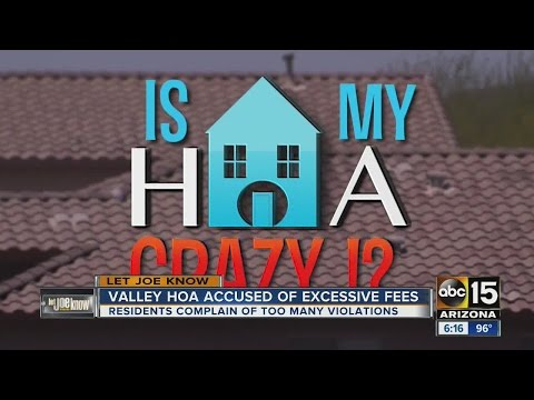 Let Joe Know: Investigation into condominiums' HOA fees