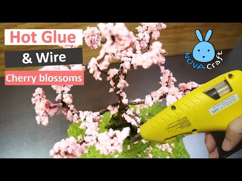 Hot Glue Wire tree Cherry blossoms Sakura | Awesome Hot Glue DIY Life Hacks for Crafting Art #002