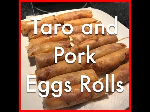 How to make Deep fried Taro Spring Rolls