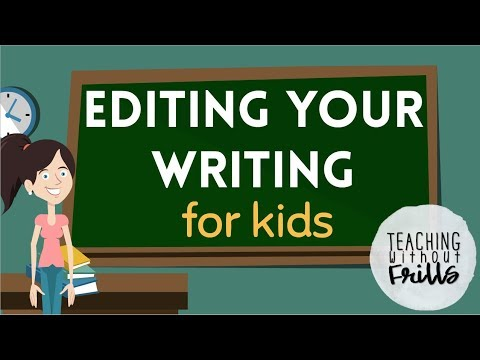 Editing Writing for Kids! |First and Second Grade|