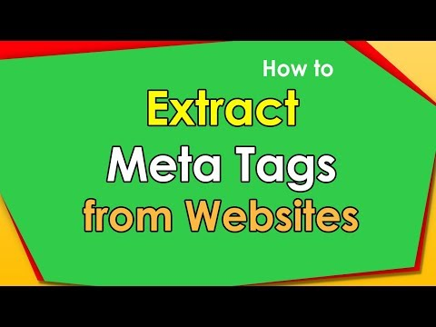 How to get meta tags from multiple websites?