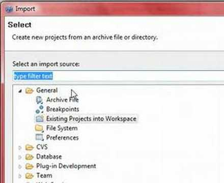 Eclipse Import a Project