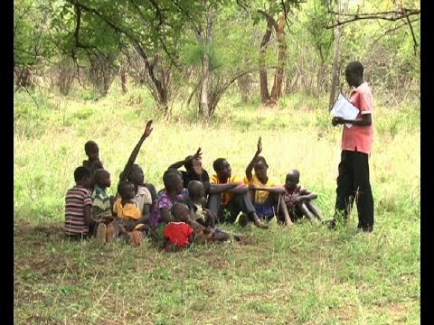 Amudat pupils study under trees after being evicted from school building