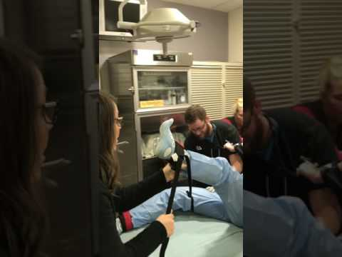 ED Restrained patient manikin challenge