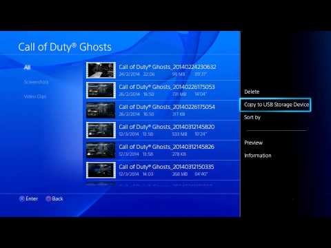 How To Put Saved Videos and Screenshots On A USB From Your Playstation 4