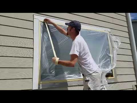 House Painting: How to Mask Windows Like a Pro.