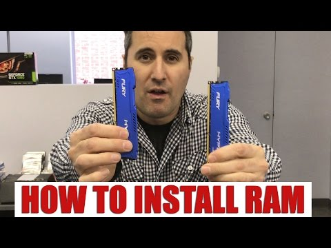 Speed Up Your Computer By Installing More  Memory -EASY RAM Upgrade