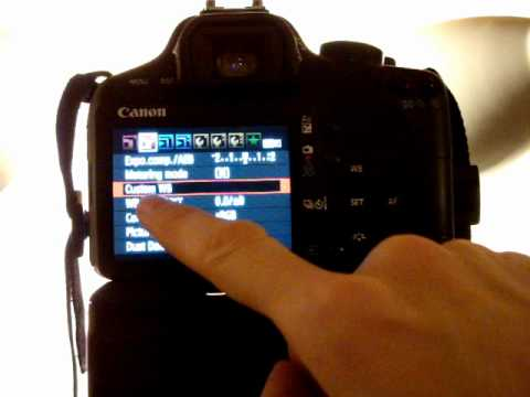 Canon EOS 500D/T1i/KissX3 Tutorial Video 20 - White Balance