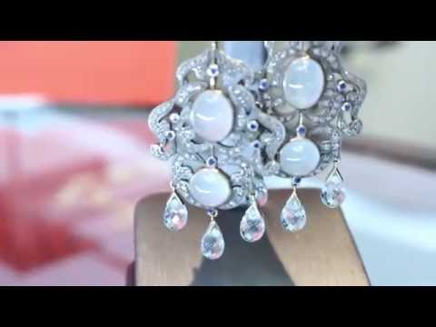 Buying & Selling Jewelry with Gemstones: Aquamarine, Diamond, Sapphire Earrings