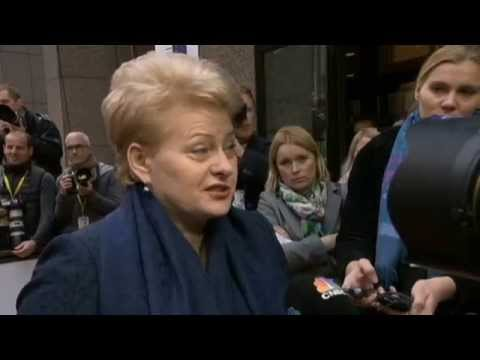 Lithuania Leader Rejects Kremlin Victory Day Invitation: Grybauskaite slams Russia over Ukraine