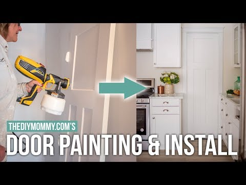 HOW TO PAINT & INSTALL INTERIOR DOORS #MomsLakeHouse | The DIY Mommy