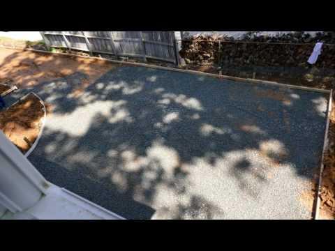 Concrete Driveway Construction Time Lapse (in 4K)
