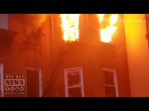 FDNY Brooklyn: Blazing Flames of 2 Alarm Bedstuy Fire