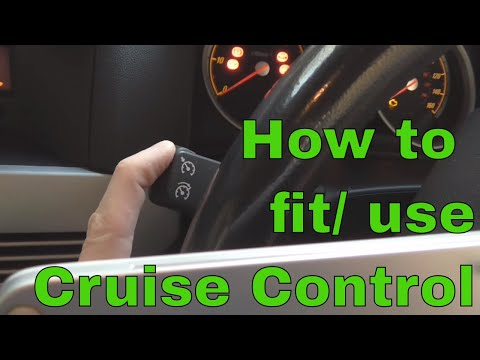 How to Install/Activate Cruise Control