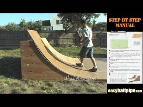 How to build a Halfpipe Step 5 MASONITE RAMP SURFACE