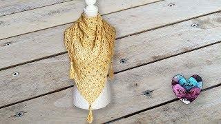 Châle Coquillages Crochet Relief Pas à Pas