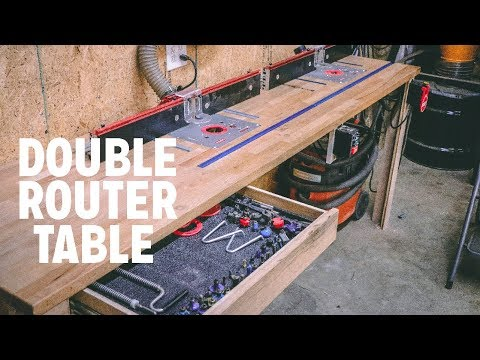 Create A Double Router Table from an IKEA Counter
