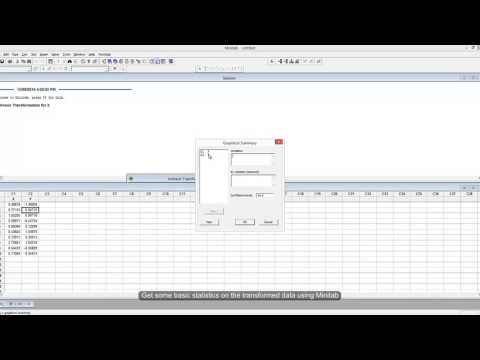 How to Transform Non-Normal Statistical Data to Normal and Back Again using Minitab