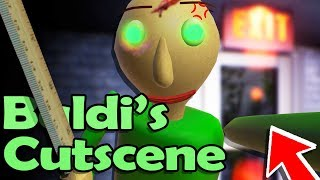 Baldi NEW ENDING CUTSCENE! He Chases us HOME!? - Baldi's Basics in Education and Learning REMASTERED