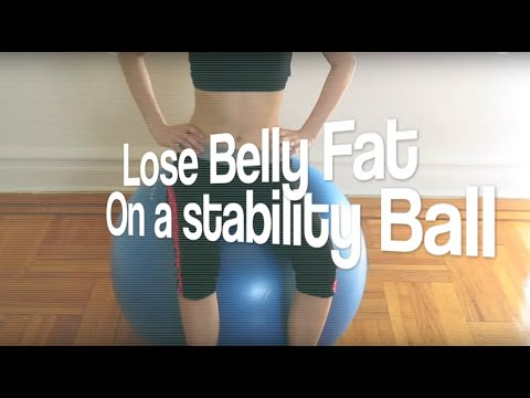 3 Exercises To Lose Belly Fat Fast On a Stability Ball For Beginners At Home