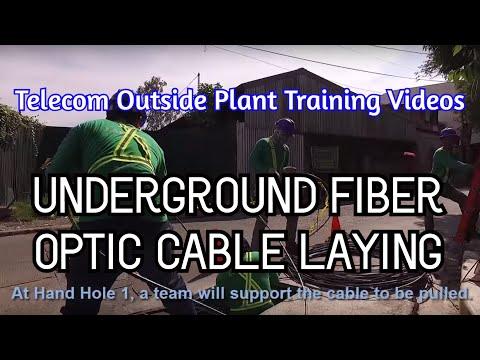 Underground Fiber Optic Cable Laying