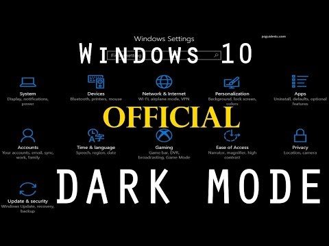 How to Enable the Dark Theme in Windows 10? | PCGUIDE4U