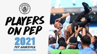 PLAYERS REACT TO PEP | Guardiola Contract Extension 2021