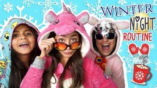 Winter Night Routine - Sis vs Sis - Funny Skits // GEM Sisters