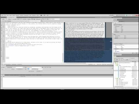 5:Avoiding errors when importing text into Dreamweaver