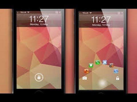 Cool Cydia Tweak - JellyLock - Android Jelly Bean Lock Screen For iOS 2013
