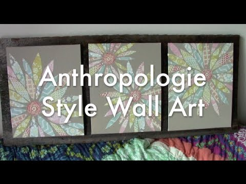 Anthropologie Style Wall Art