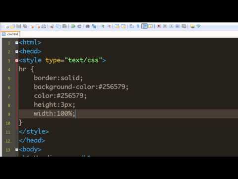CSS Tutorial - 29 Styling the horizontal rule