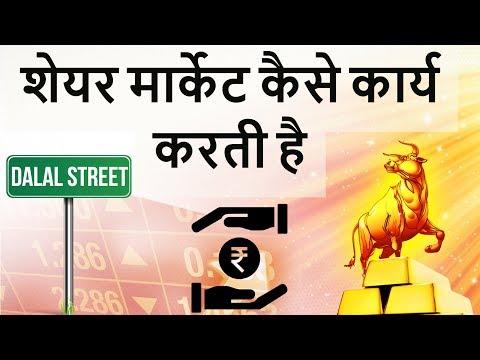 शेयर मार्केट कैसे कार्य करती है - How does share market work in India - Learn from basics in Hindi