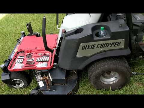 How To change the drive belt on a zero turn mower Dixie chopper