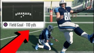 Is It Possible To Kick A 100 Yard Field Goal? Madden NFL 18 Challenge