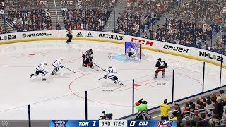 NHL 22 - Toronto Maple Leafs vs Columbus Blue Jackets - Gameplay (PS5 UHD) [4K60FPS]