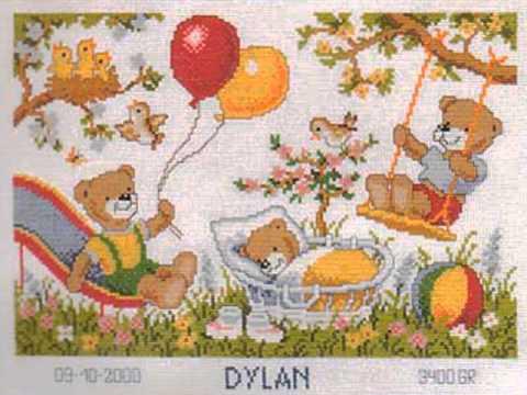 Cross stitch Birth Sampler kits selection 3