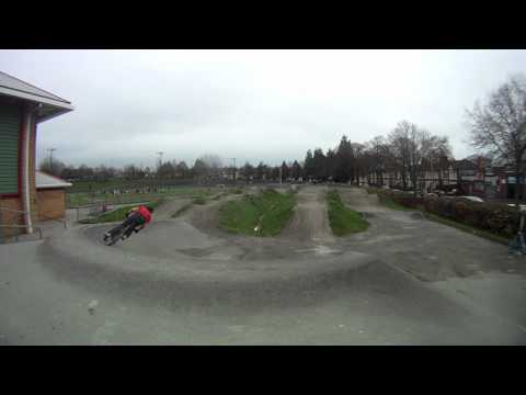 Riding my BMX at Maindy Pump Track