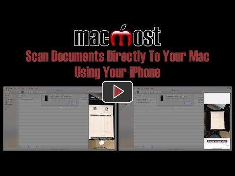 Scan Documents Directly To Your Mac Using Your iPhone (MacMost #1811)