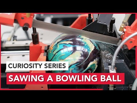 Curiosity Episode #1; Sawing a Bowling Ball in Half